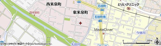 愛知県瀬戸市東米泉町周辺の地図
