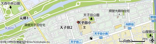 愛知県名古屋市守山区天子田周辺の地図