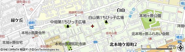 愛知県尾張旭市南新町周辺の地図