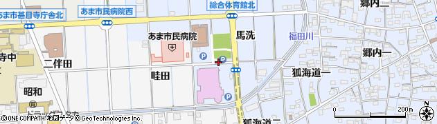 愛知県あま市西今宿(馬洗)周辺の地図