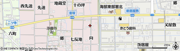 愛知県あま市富塚向周辺の地図