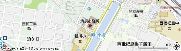 愛知県清須市周辺の地図