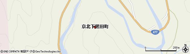 京都府京都市右京区京北下黒田町周辺の地図