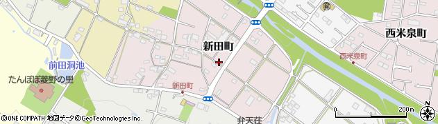 愛知県瀬戸市新田町周辺の地図