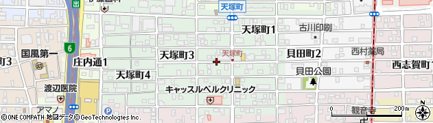 愛知県名古屋市西区天塚町周辺の地図