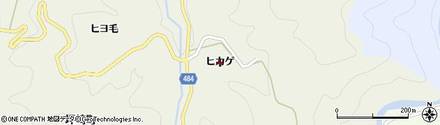 愛知県豊田市坪崎町(ヒカゲ)周辺の地図