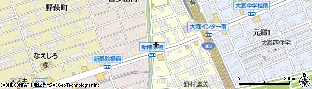 ブロンコビリー 大森インター店周辺の地図