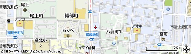 愛知県名古屋市北区御成通周辺の地図