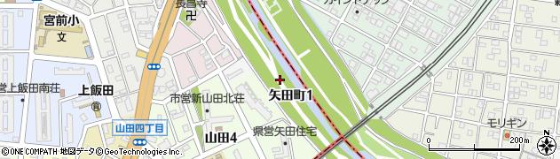 愛知県名古屋市北区矢田町周辺の地図