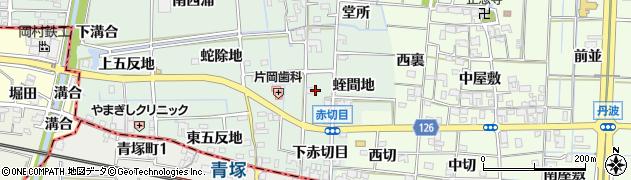 愛知県あま市蜂須賀(上赤切目)周辺の地図