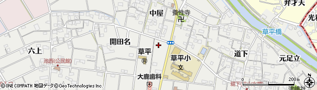 一宮津島線周辺の地図