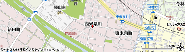 愛知県瀬戸市西米泉町周辺の地図