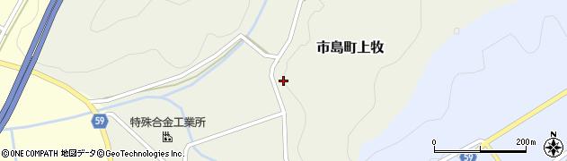 兵庫県丹波市市島町上牧周辺の地図