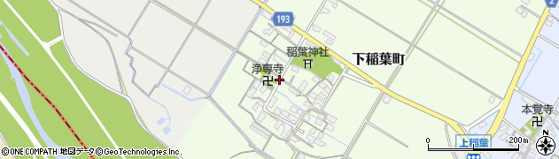 滋賀県彦根市下稲葉町周辺の地図