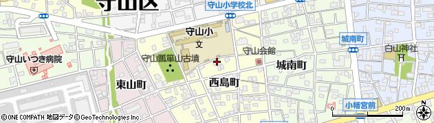 愛知県名古屋市守山区西島町周辺の地図