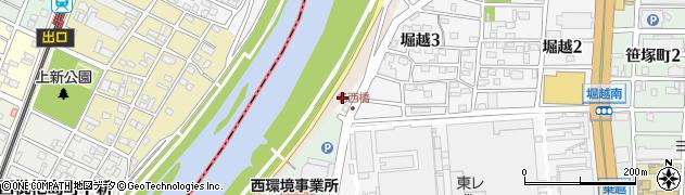 愛知県名古屋市西区堀越町(大縄)周辺の地図
