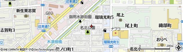 愛知県名古屋市北区真畔町周辺の地図