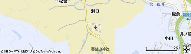 愛知県豊田市北一色町(洞口)周辺の地図