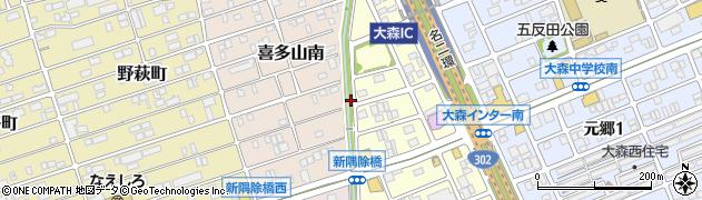愛知県名古屋市守山区小幡(中井)周辺の地図