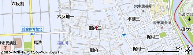 愛知県あま市西今宿(郷内二)周辺の地図