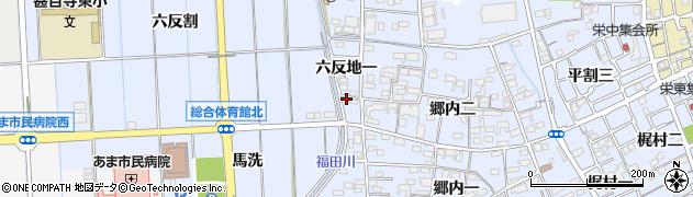 愛知県あま市西今宿(六反地一)周辺の地図