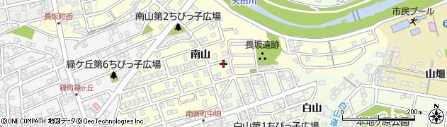 愛知県尾張旭市長坂町(南山)周辺の地図