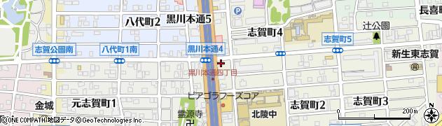 かまどや 黒川4丁目店周辺の地図