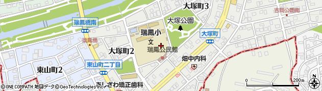 愛知県尾張旭市大塚町周辺の地図
