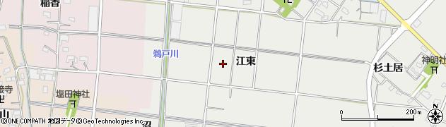 愛知県愛西市赤目町(江東)周辺の地図