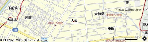 愛知県愛西市勝幡町(大矢)周辺の地図