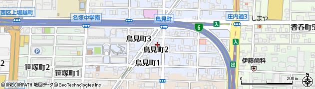 愛知県名古屋市西区鳥見町周辺の地図
