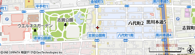 愛知県名古屋市北区金城町周辺の地図