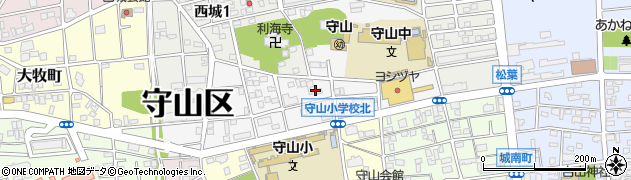 愛知県名古屋市守山区大屋敷周辺の地図