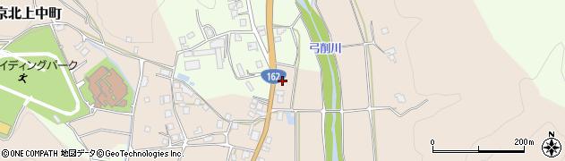 京都府京都市右京区京北上中町(燈明縄手)周辺の地図