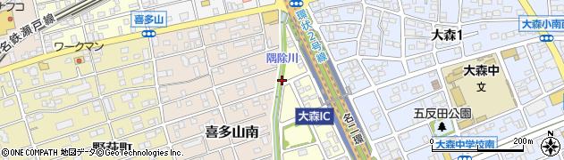 愛知県名古屋市守山区小幡(隅除)周辺の地図
