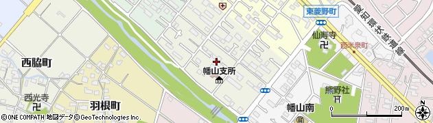 愛知県瀬戸市幡山町周辺の地図