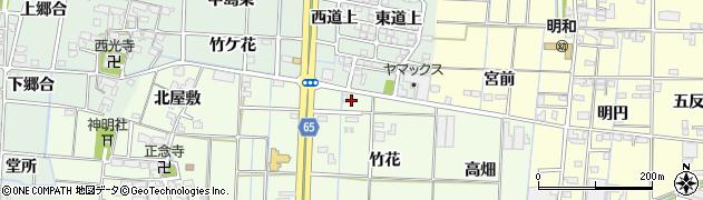 愛知県あま市丹波(竹花)周辺の地図