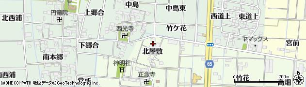 愛知県あま市丹波北屋敷周辺の地図