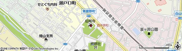 仙寿寺周辺の地図
