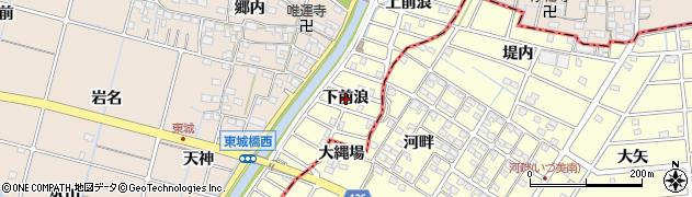 愛知県稲沢市平和町(下前浪)周辺の地図