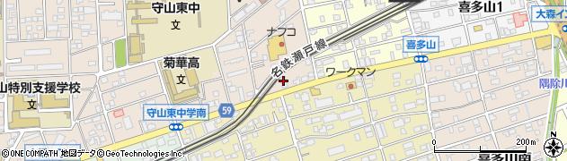 宅配クック1・2・3守山店周辺の地図