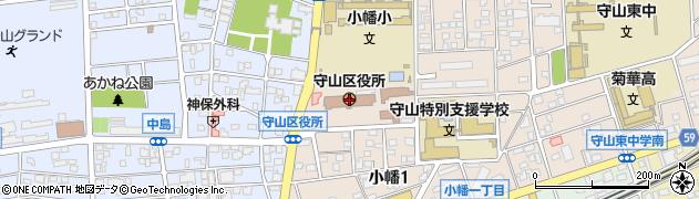 愛知県名古屋市守山区周辺の地図