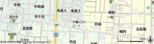 愛知県あま市蜂須賀(東杁ノ下)周辺の地図