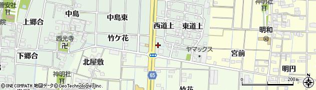 愛知県あま市蜂須賀西杁ノ下周辺の地図