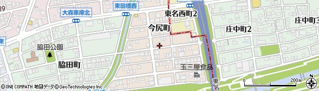 愛知県名古屋市守山区今尻町周辺の地図