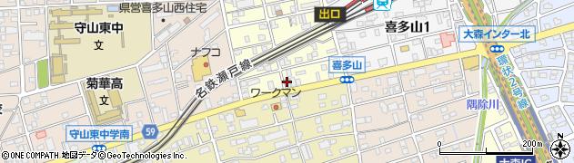 さのさ鮨 守山店周辺の地図