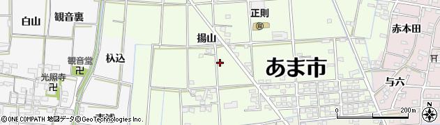 愛知県あま市二ツ寺(揚山)周辺の地図