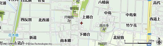 愛知県あま市蜂須賀周辺の地図