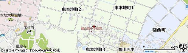 愛知県瀬戸市東本地町周辺の地図