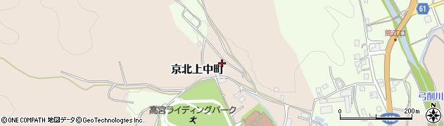 京都府京都市右京区京北上中町(久保谷)周辺の地図